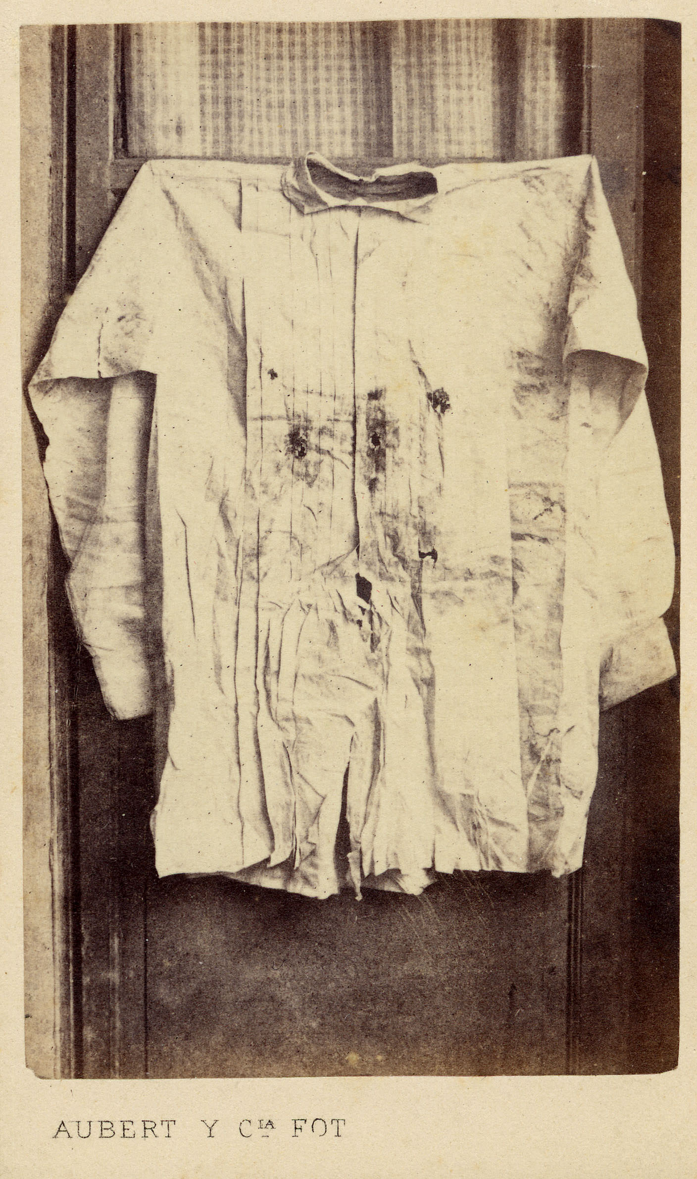 """Maximilian von Habsburg's Shirt, 1867"" Carte-de-visite photograph, Mexico Maximilian era Carte-de-visite Collection (PICT 997-013-0018), Center for Southwest Research, University Libraries, University of New Mexico"