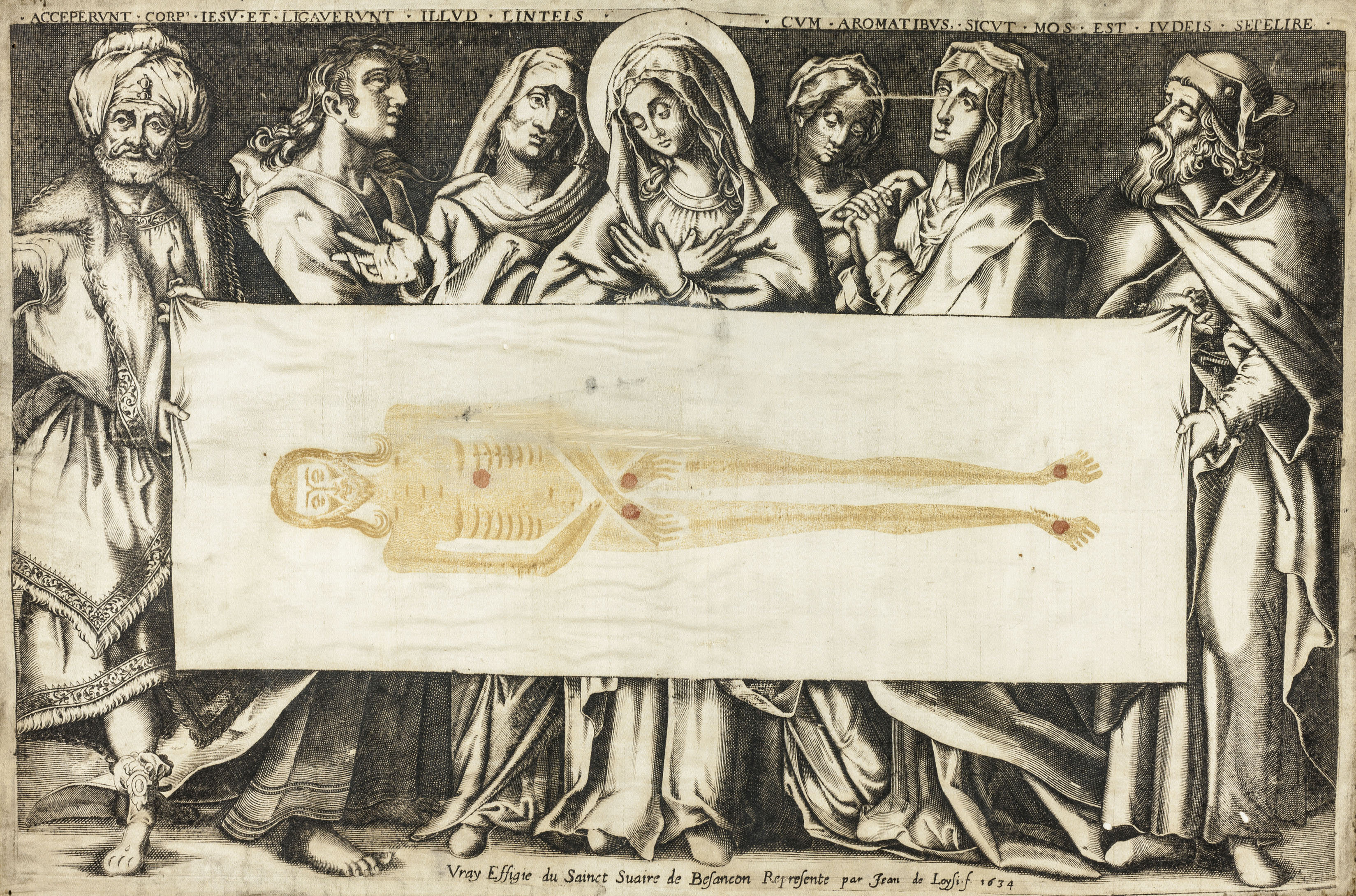 Fig. 1 Jean de Loisy, The Holy Shroud of Besançon, 1634, The Art Institute of Chicago