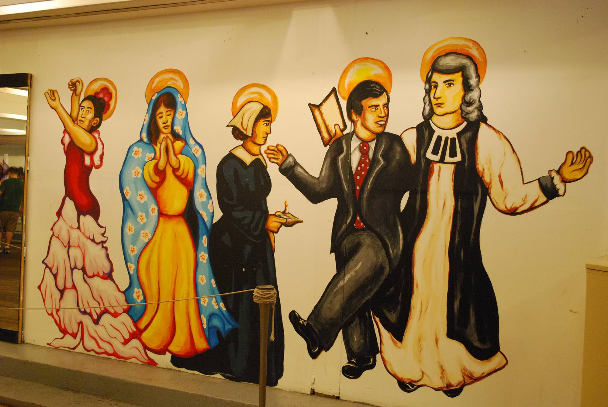 Detail of Dickerson's Dance with the Saints mural