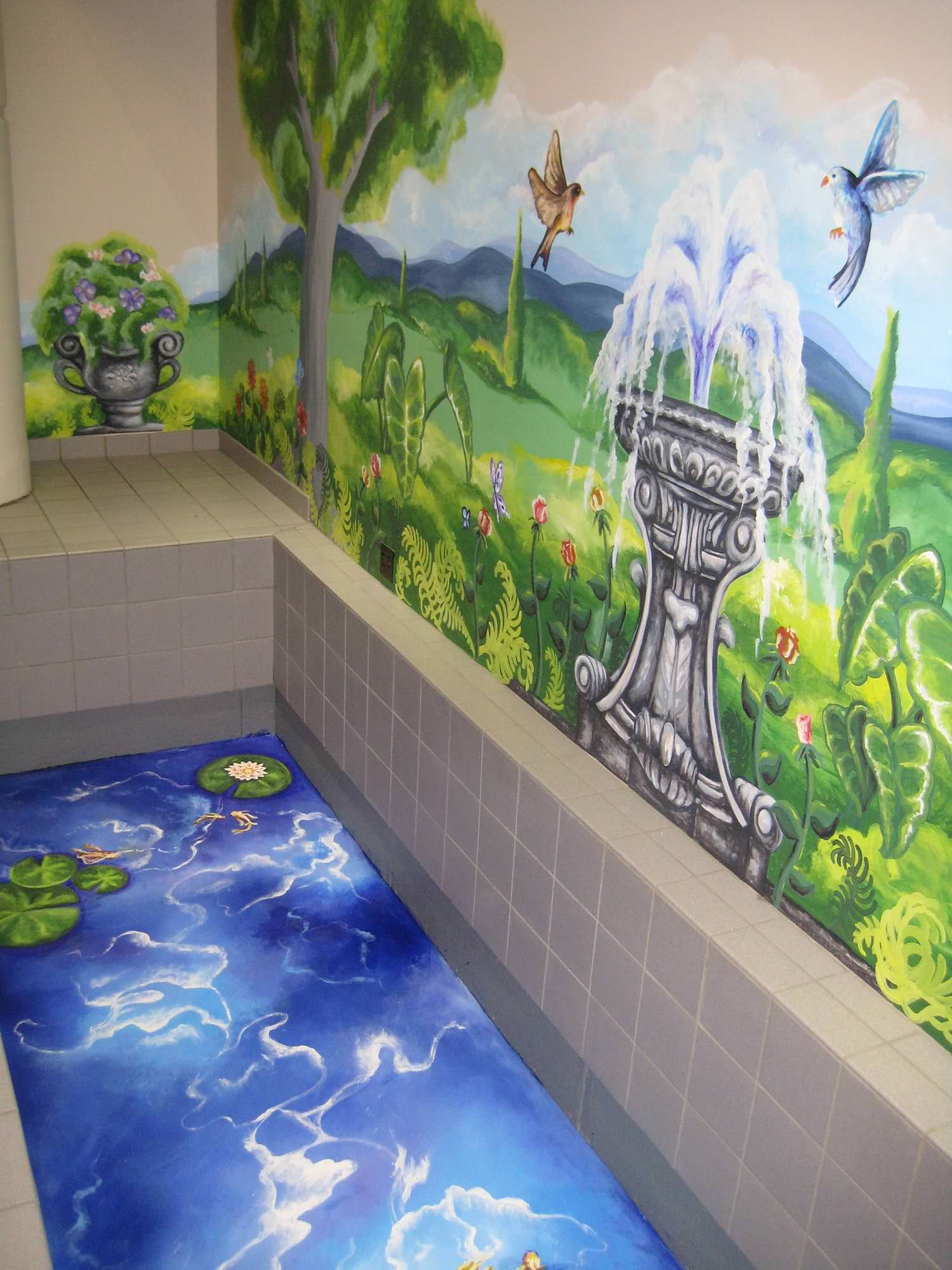 Julie Dickerson, Mural at Elliot Hospital, Manchester, NH, 2010