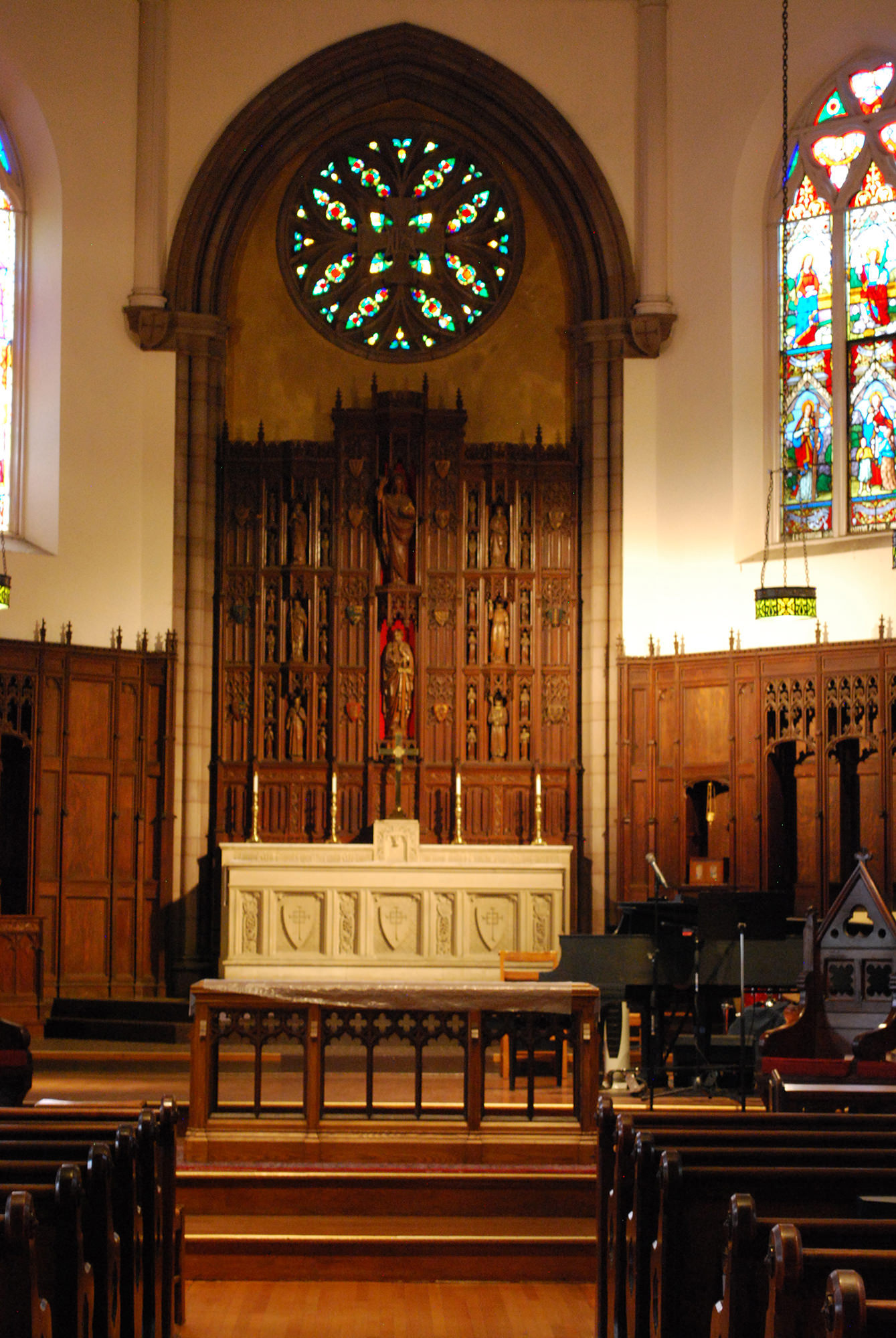 View of the reredos at St. Paul and St. James