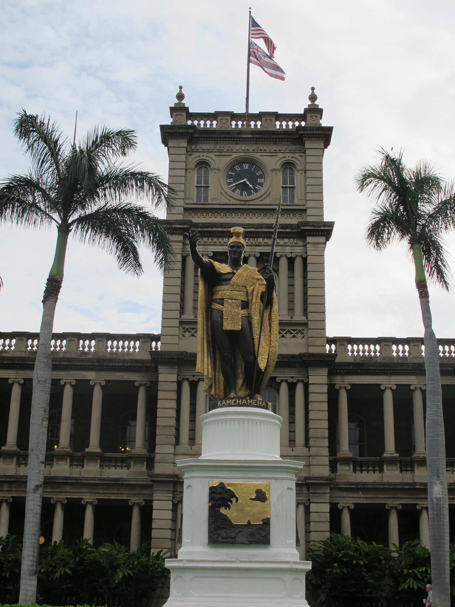 Fig. 15 Statue of Kamehameha I in front of Hawai'i State Supreme Court (in Aliʻiolani Hale), Thomas R. Gould, sculptor, cast bronze, statue dedicated 1883, Oʻahu, May 2011. Photo: ©Sally Promey