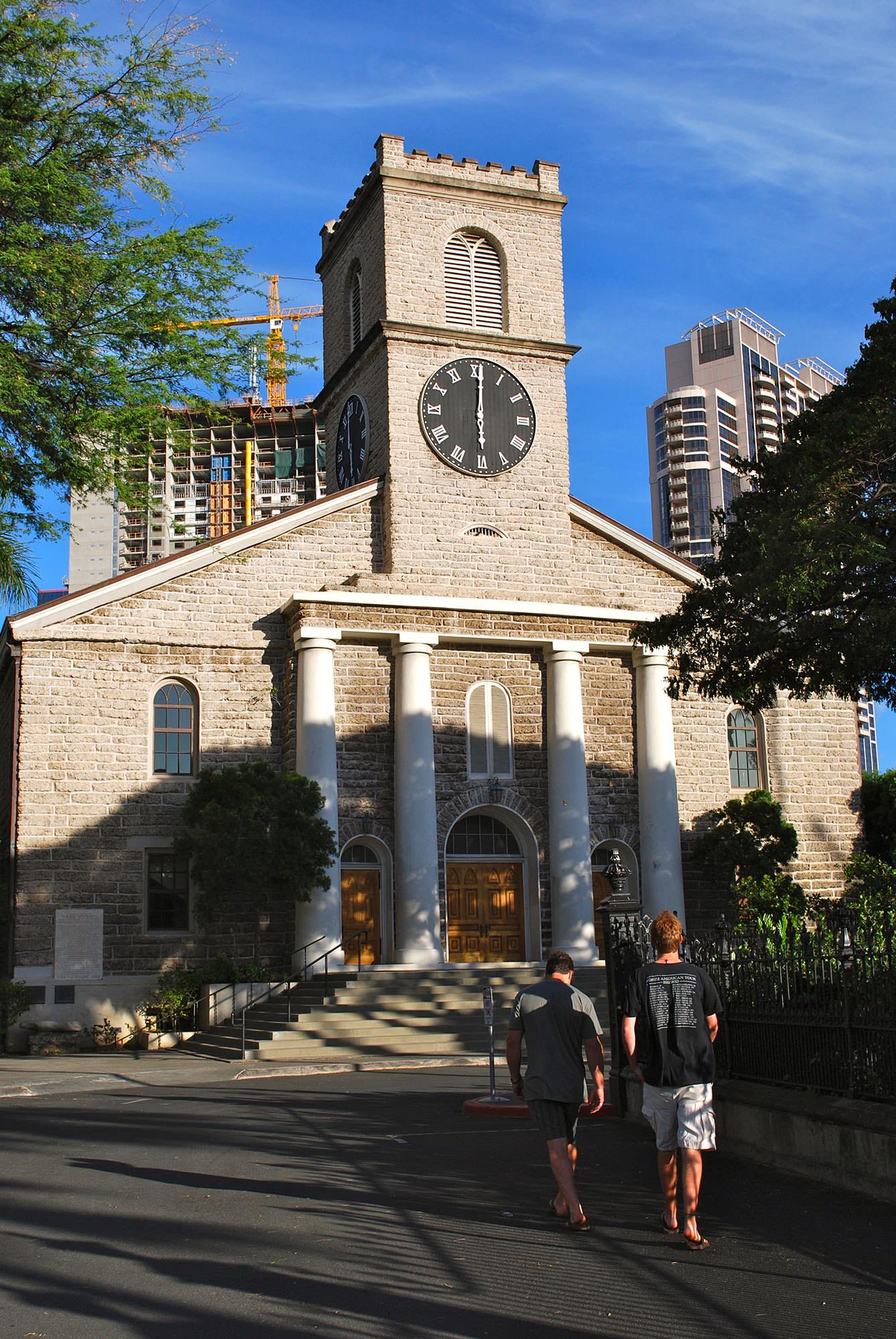 Fig. 1 Kawaiahaʻo Church, Oʻahu, main façade, July 2014. Photo: ©Sally Promey