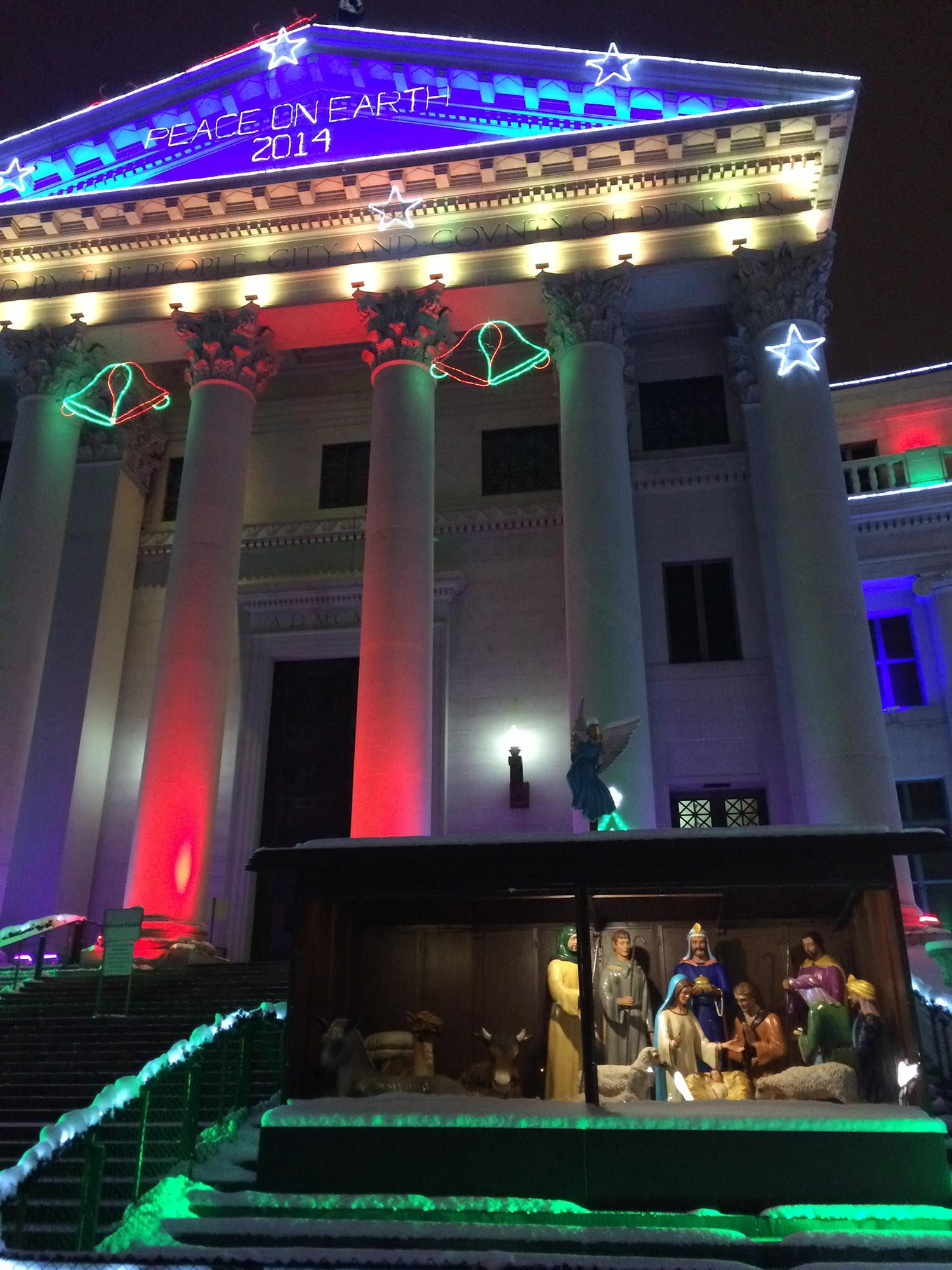 Fig. 31 Christmas Display, Denver City and County Building, Denver, Colorado, December 2014. Photo: ©Margaret Olin