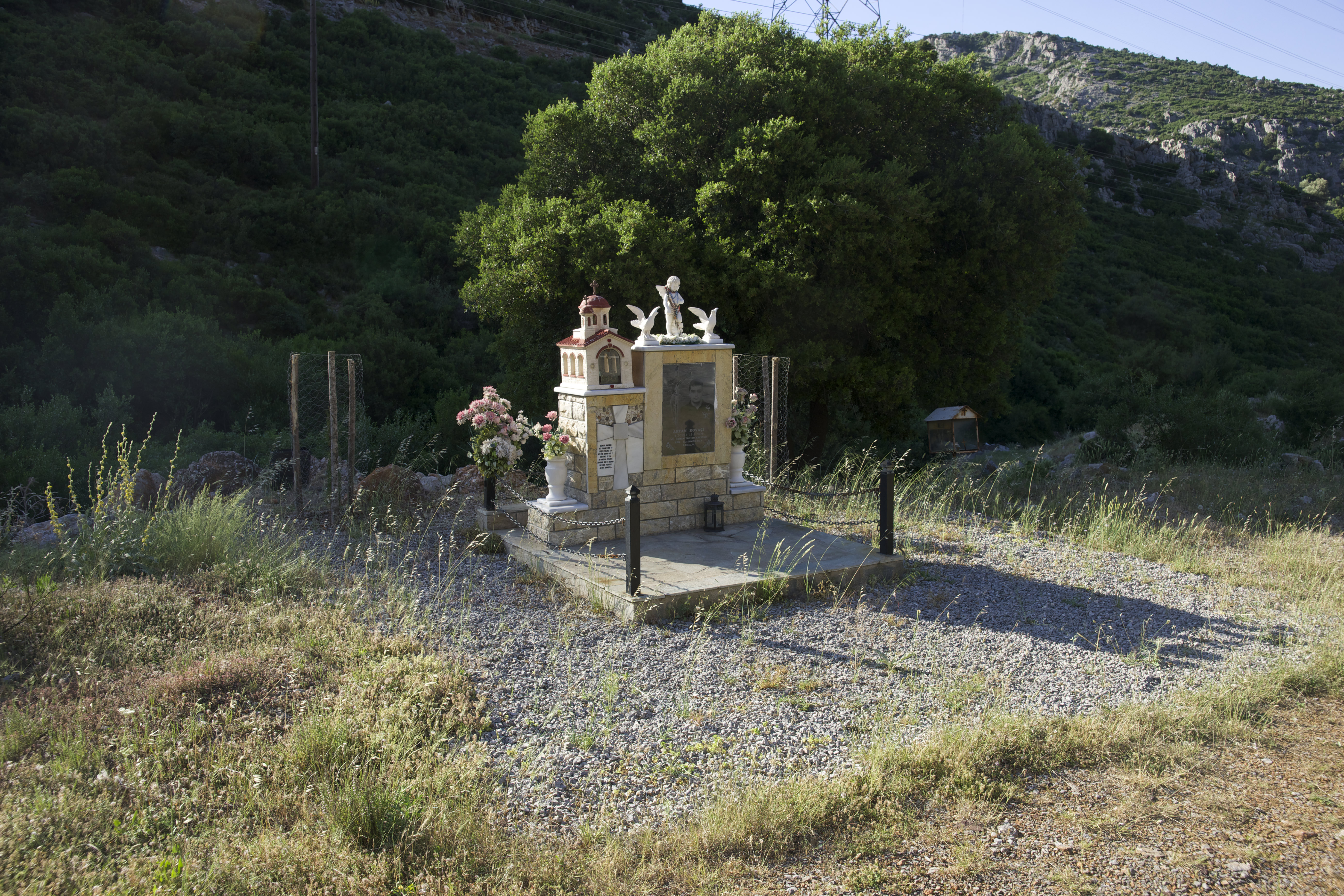 Fig. 7 Memorial of a deadly accident, on the national road Livadia-Amfissa