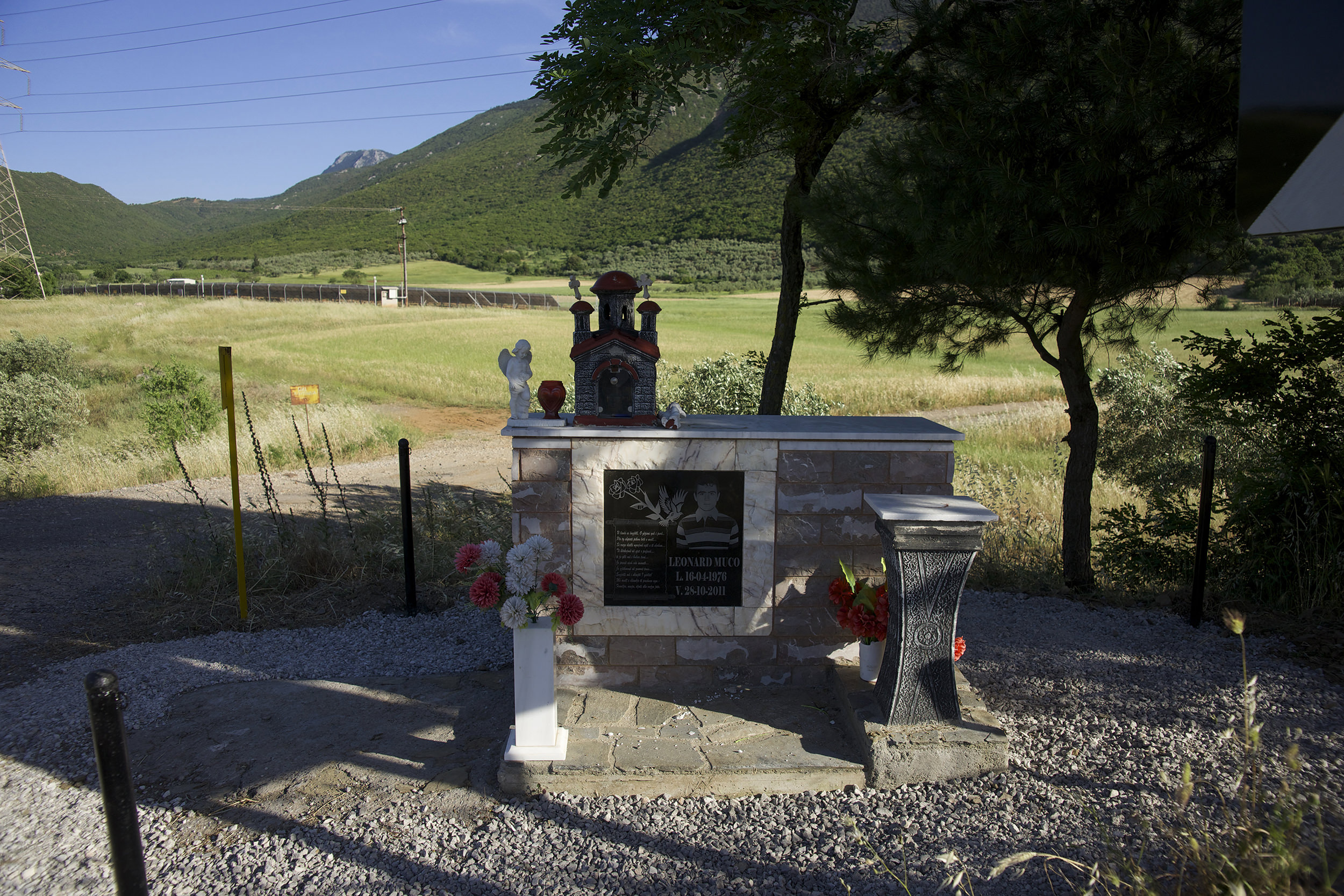 Fig. 8 Memorial of a deadly accident, on the national road Livadia-Amfissa