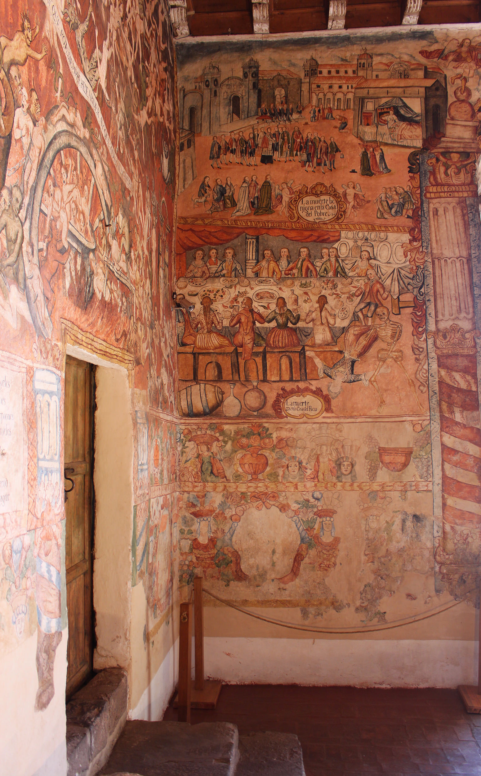 Fig. 40 View of Death in the House of Rich and Poor contiguous with Hell, 1802. Murals by Tadeo Escalante, Church of Huaro, Quispicanchi Province. Photo by author.