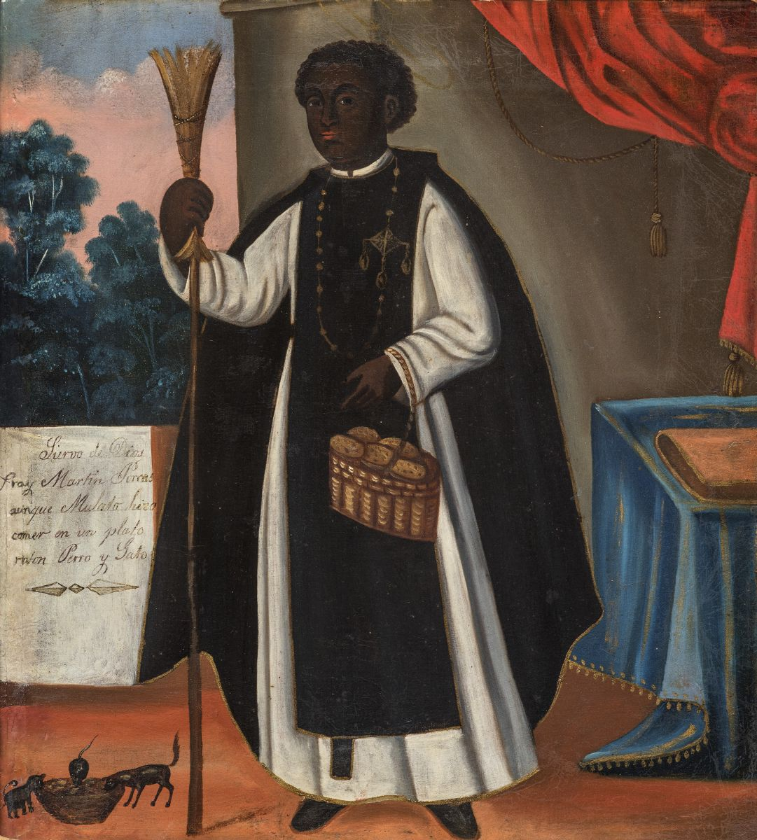 Saint Martin de Porres, oil on canvas, 19th century, Barbosa-Stern Collection, Lima