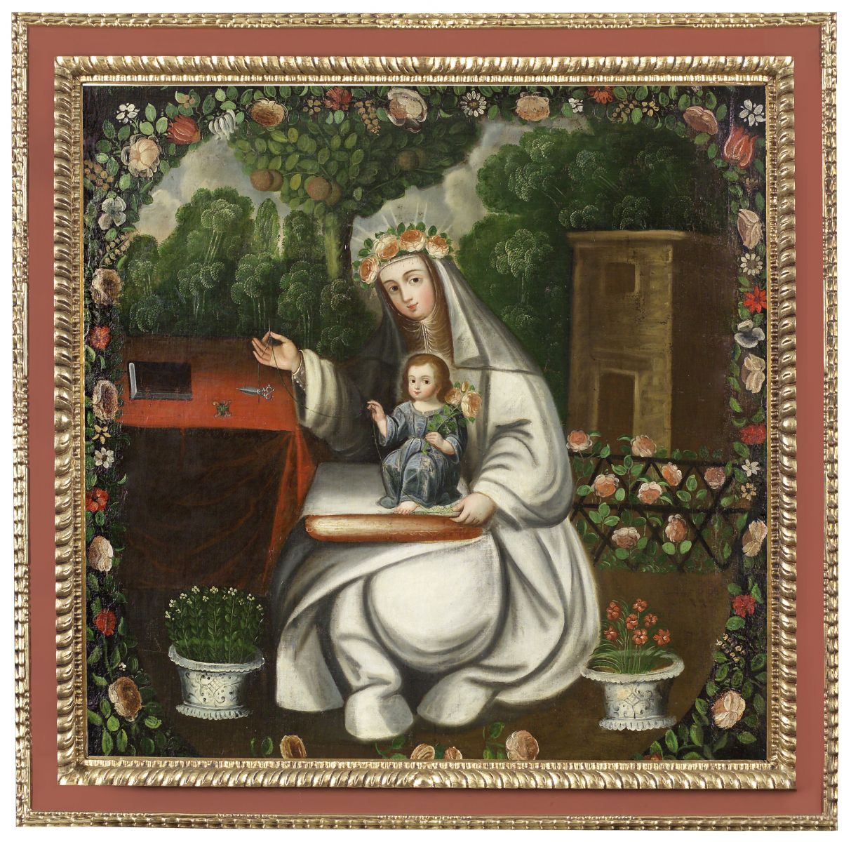 Cuzco school painting of Saint Rose of Lima, 18th century, Barbosa-Stern Collection, Lima