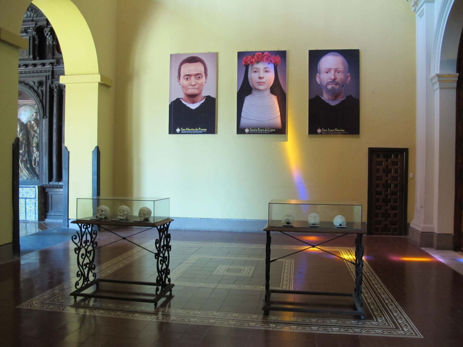 Display of the Facial Reconstructions of the Peruvian Saints at Santo Domingo, Lima