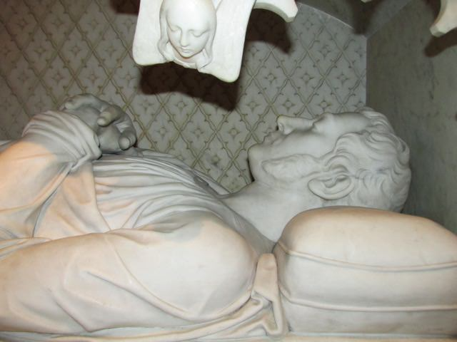 Fig 2. Detail of the effigy: Frank Wills (architect) and Henry Kirke Brown (sculptor), canopy tomb of Edward Shippen Burd, 1849-1860, St. Stephen's Episcopal Church, Philadelphia