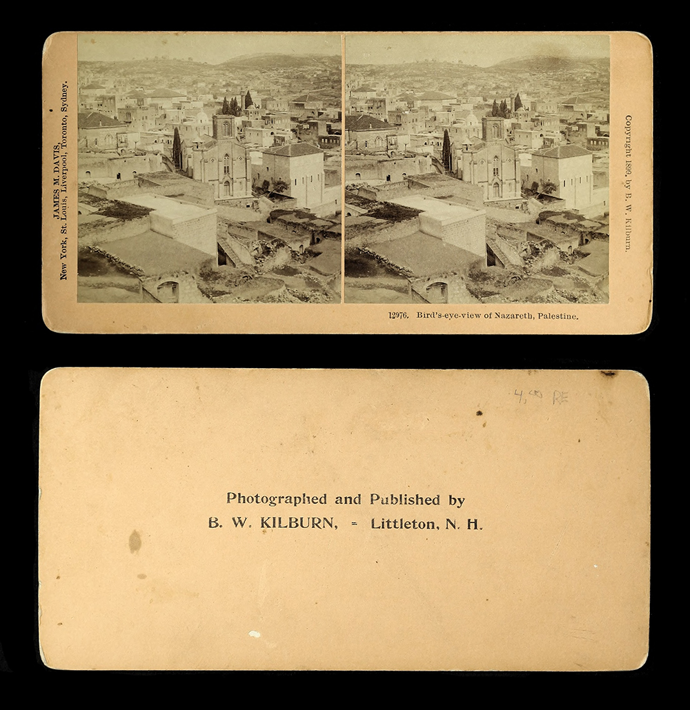 "Fig. 6 Benjamin West Kilburn, ""Bird's Eye View of Nazareth,"" stereograph, 1899"