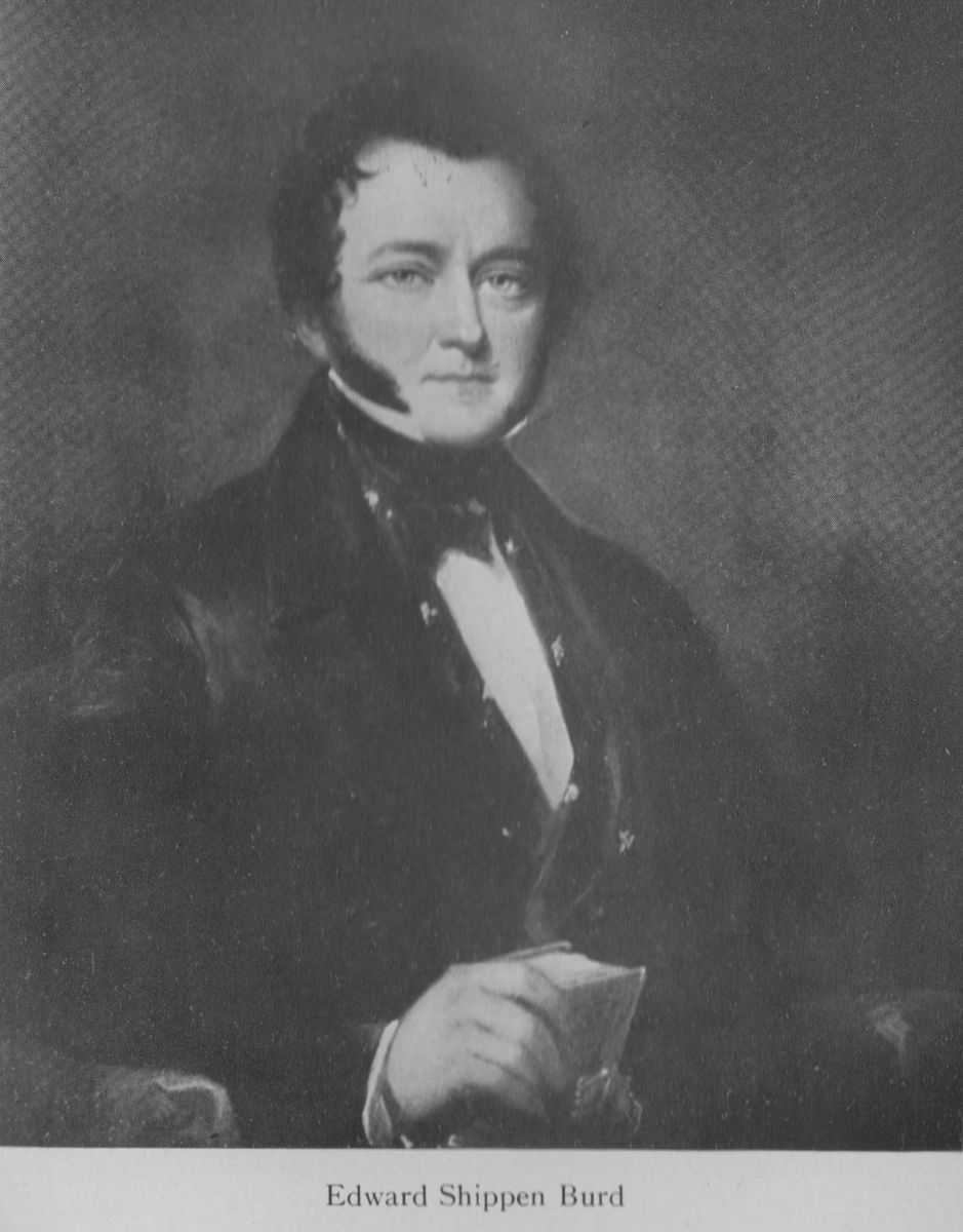 Fig. 10. Unidentified painter, Portrait of Edward Shippen Burd,1830s.