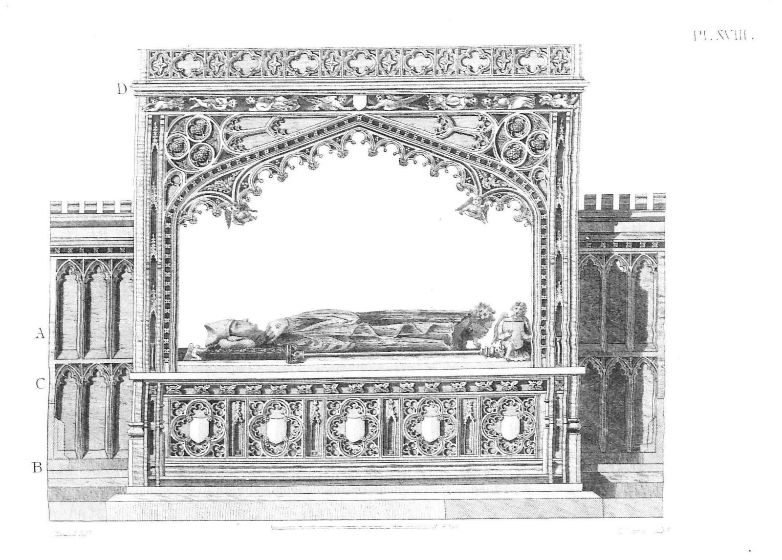 Fig. 5. Canopy tomb of Bishop Branscombe, after 1280, Exeter Cathedral