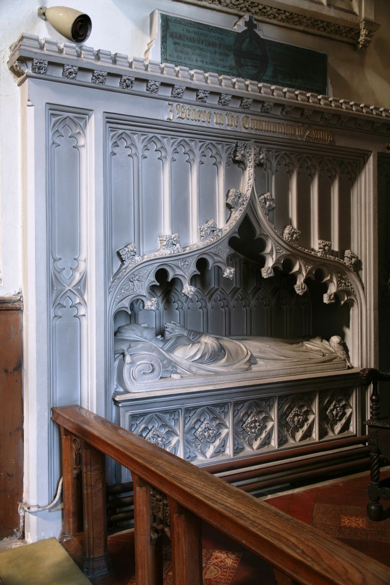 Fig. 4. Frank Wills (architect) and possibly John Bacon the Younger (sculptor), canopy tomb of Christiana Bacon Medley, 1842, St. Thomas's Church, Exeter, U.K. Photo: Malcolm Thurlby
