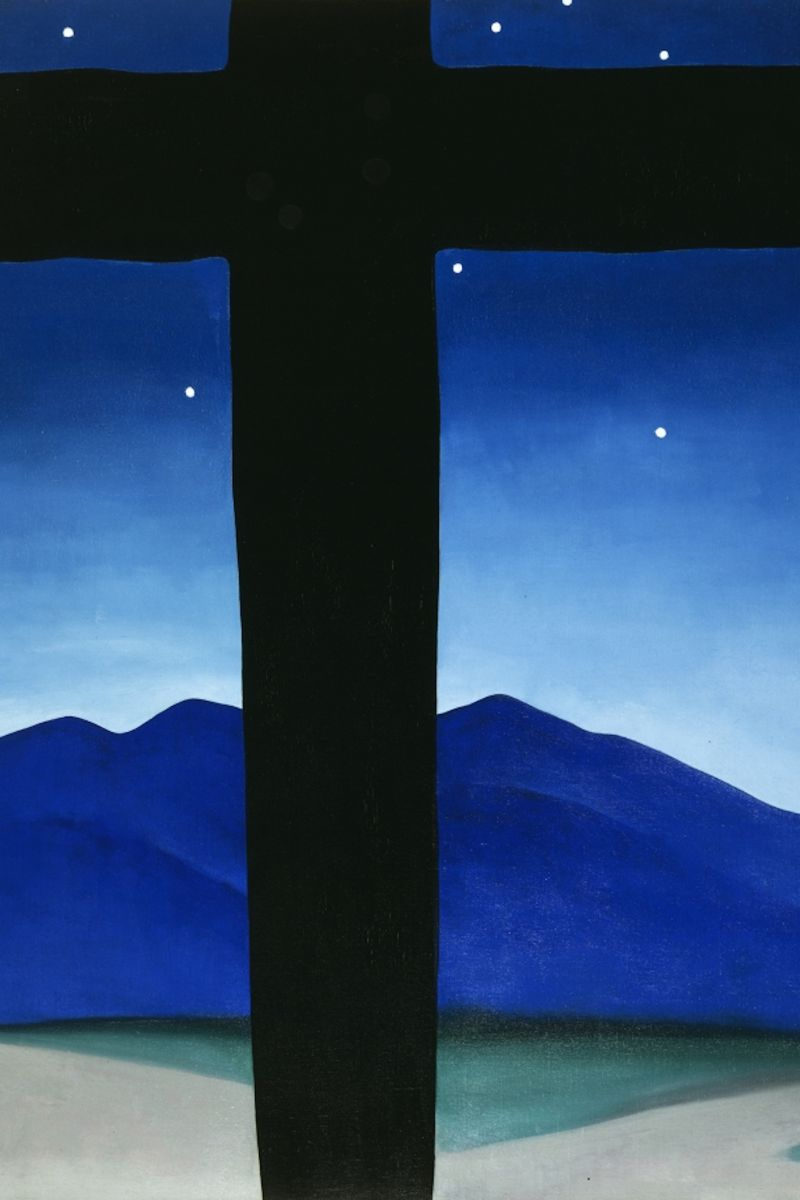 Fig. 1 Georgia O'Keeffe, Black Cross with Stars and Blue, 1929. Oil on canvas, 40 x 30 in. Private Collection.