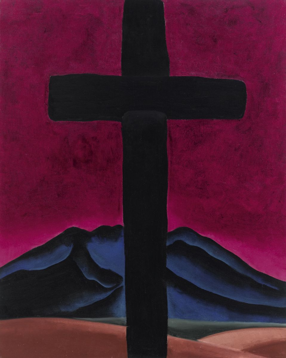 Fig. 3 Georgia O'Keeffe, Cross with Red Sky (Black Cross with Red Sky), 1929. Oil on canvas, 40 x 32 in. Private Collection.
