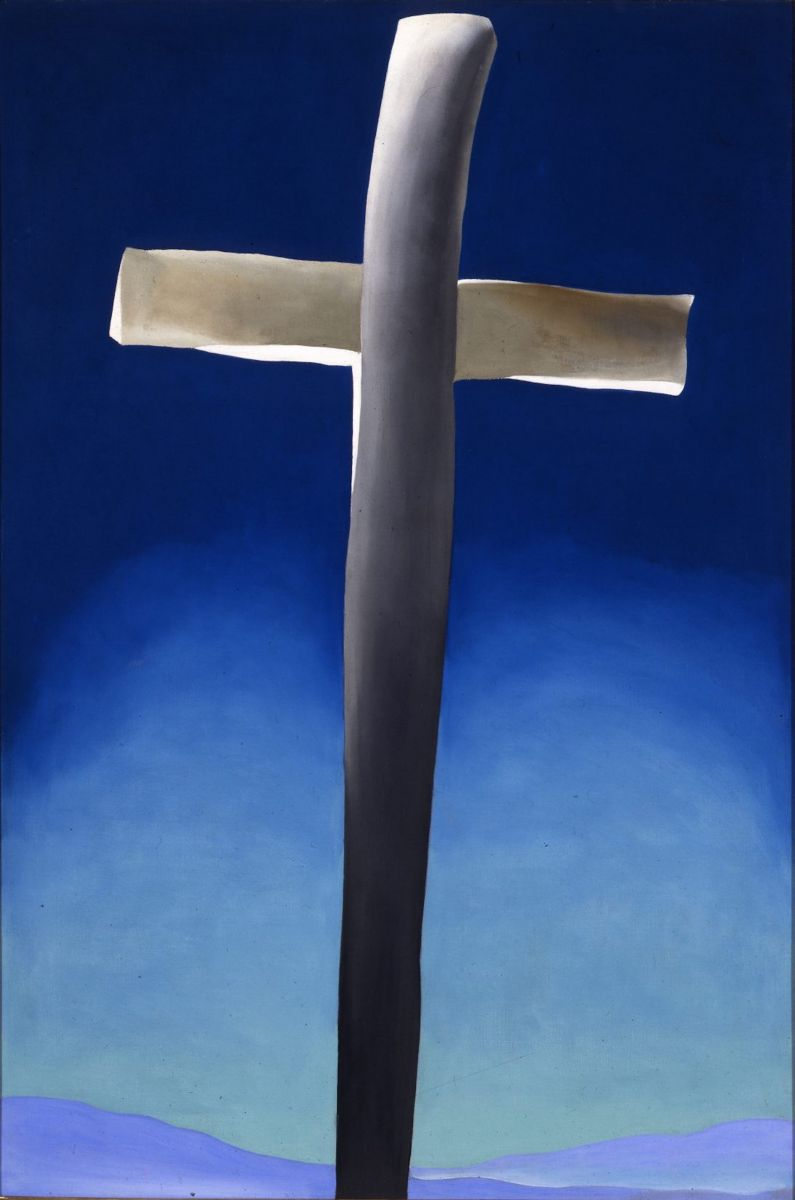 Fig. 4 Georgia O'Keeffe, Grey Cross with Blue, 1929. Oil on canvas, 36 x 24 in. The Albuquerque Museum.
