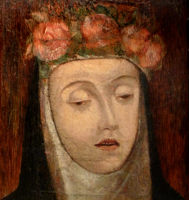 attributed to Angelino Medoro, Funerary Portrait of Saint Rose of Lima, 1617, oil on cloth