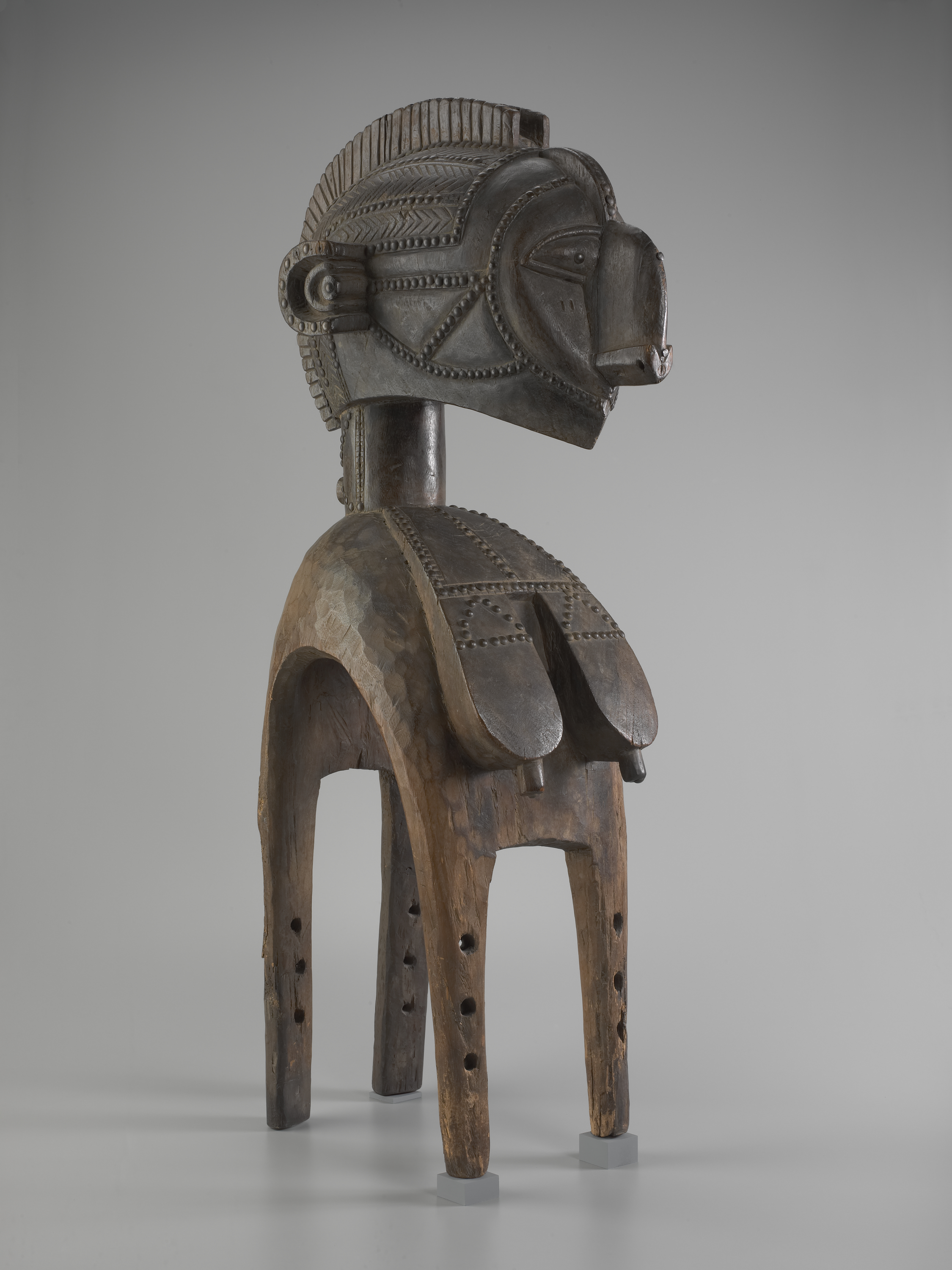 Mask with Superstructure Representing a Beautiful Mother (D'mba), early 19th-early 20th century