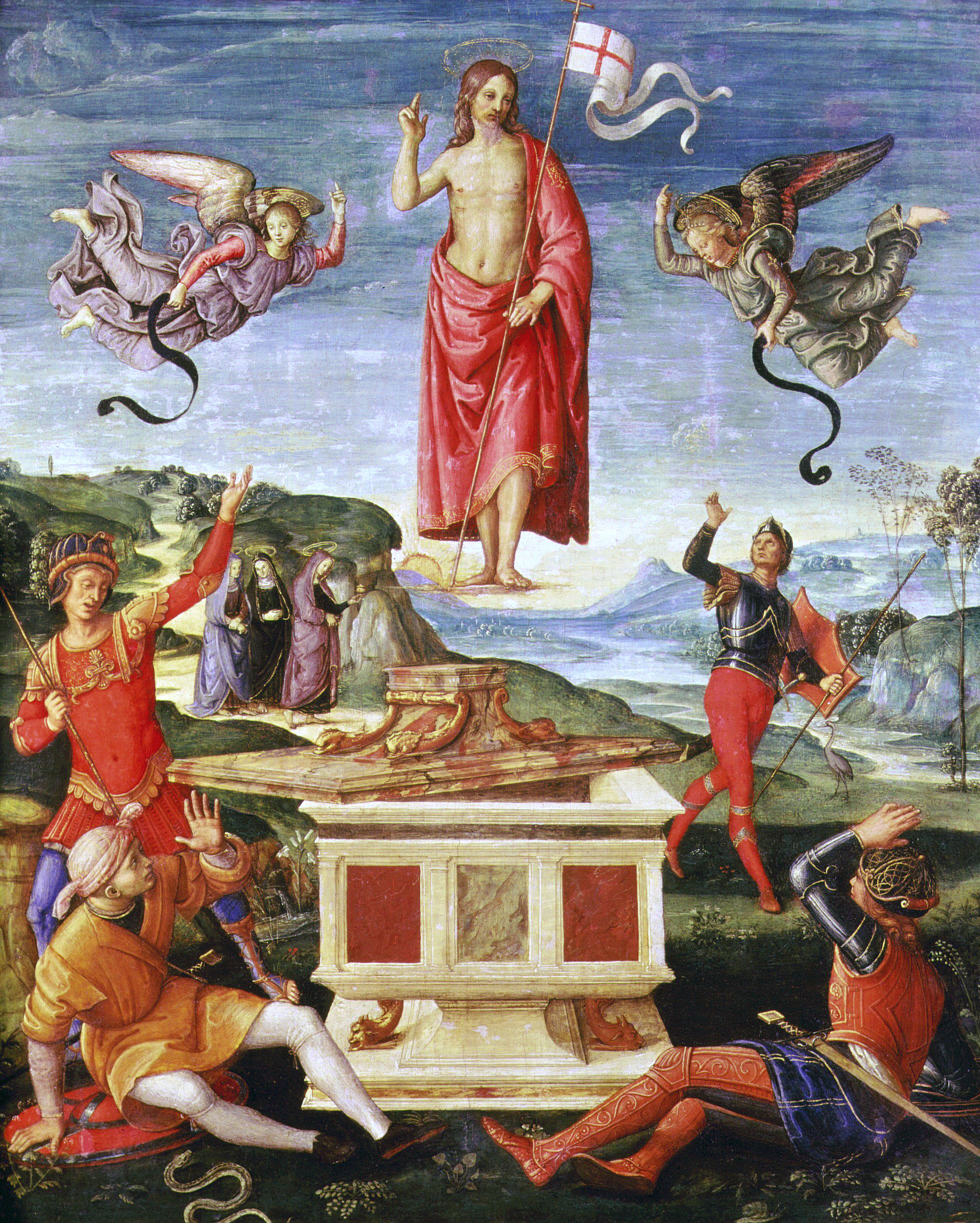 Fig. 2 Raphael, The Resurrection of Christ, ca. 1502
