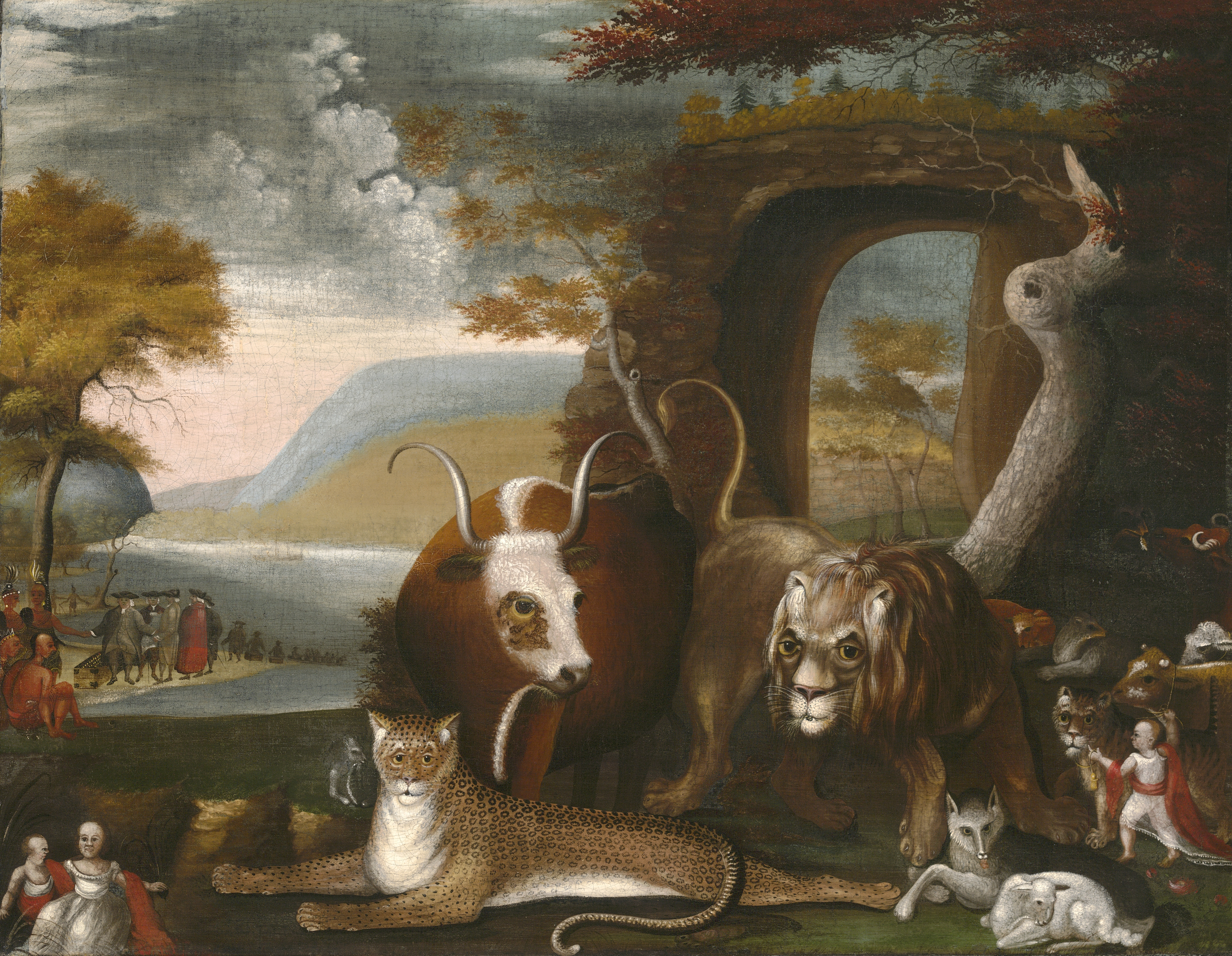 hicks peaceable kingdom essays  hicks' best known paintings, such as the peaceable kingdom series, exemplify   alice ford suggests that we should accept hicks' kingdoms and the farms as   'primitive painting,' in art and culture: critical essays, 1961.