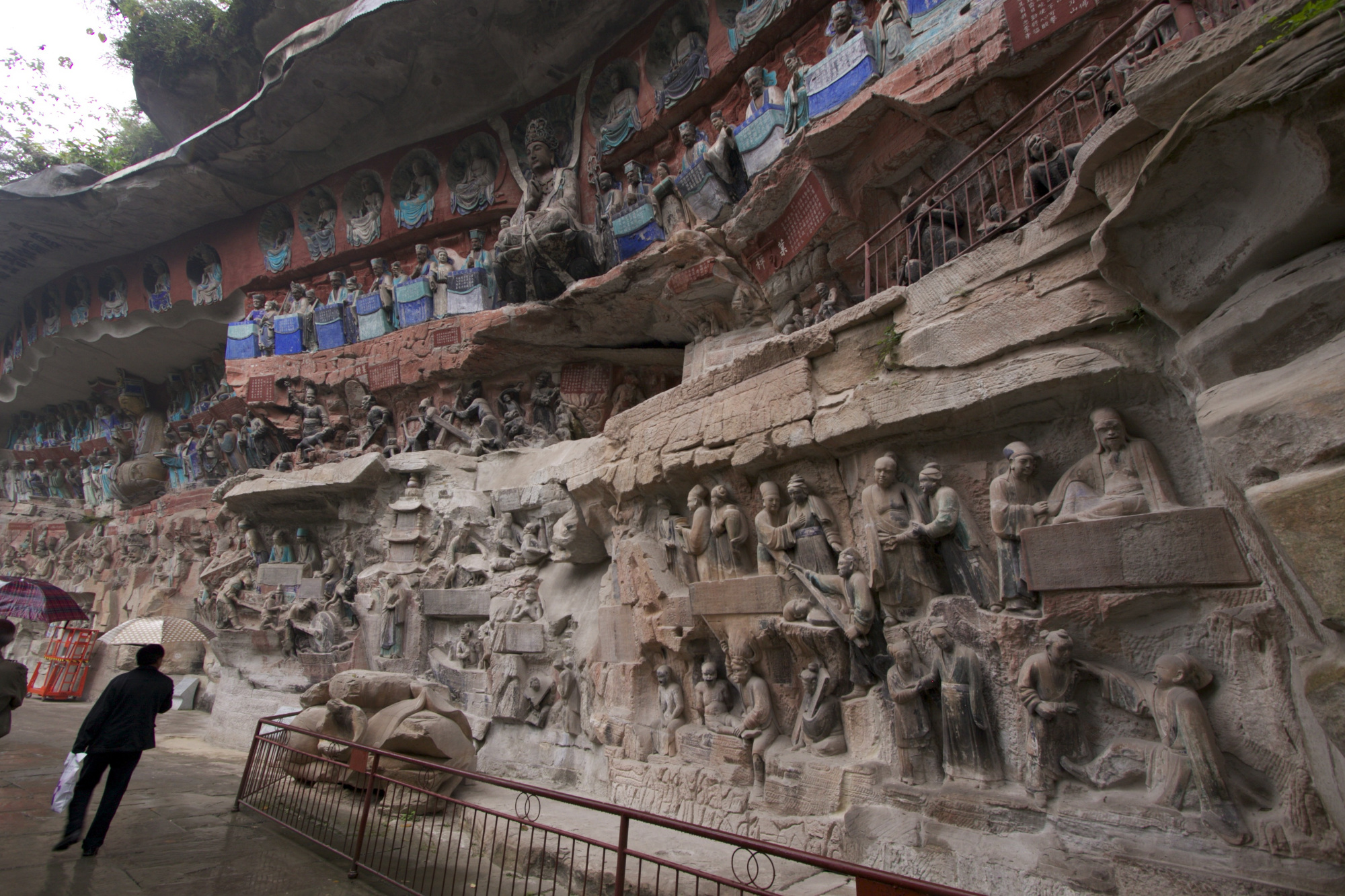 Overview of Hell tableau, 12th century CE, Great Buddha Bend, Baodingshan.