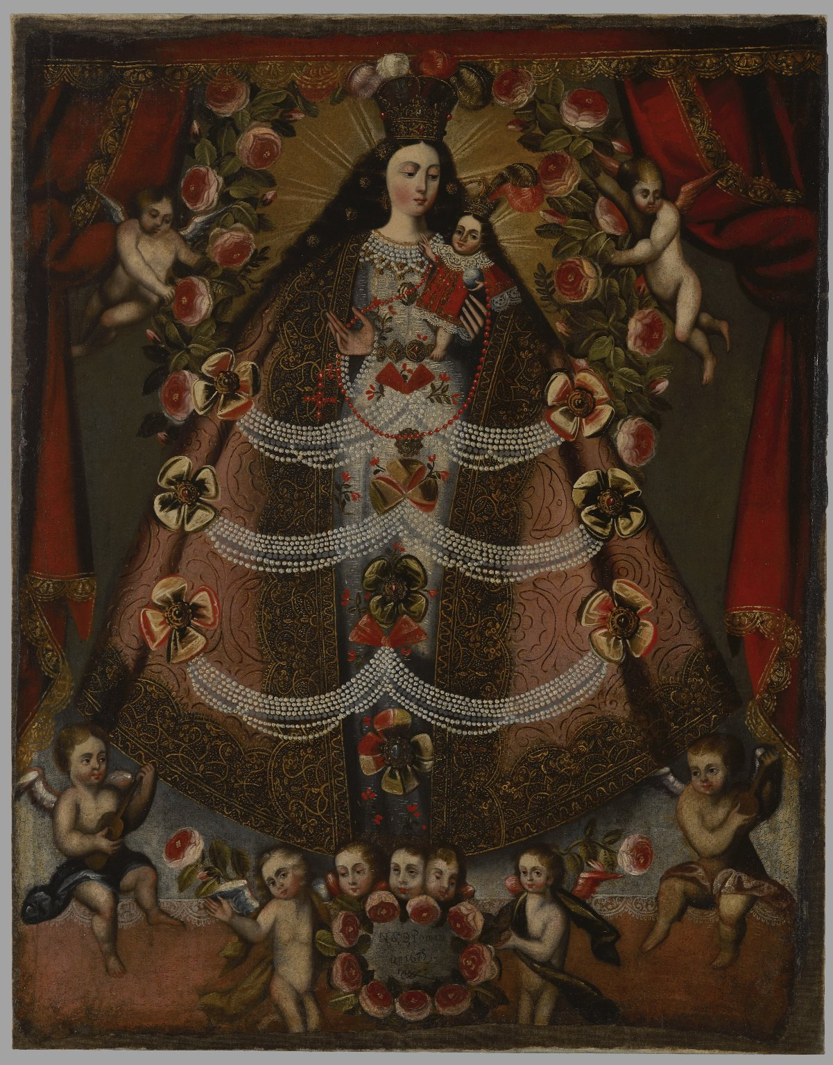Cuzco school, Our Lady of Pomata, 1675
