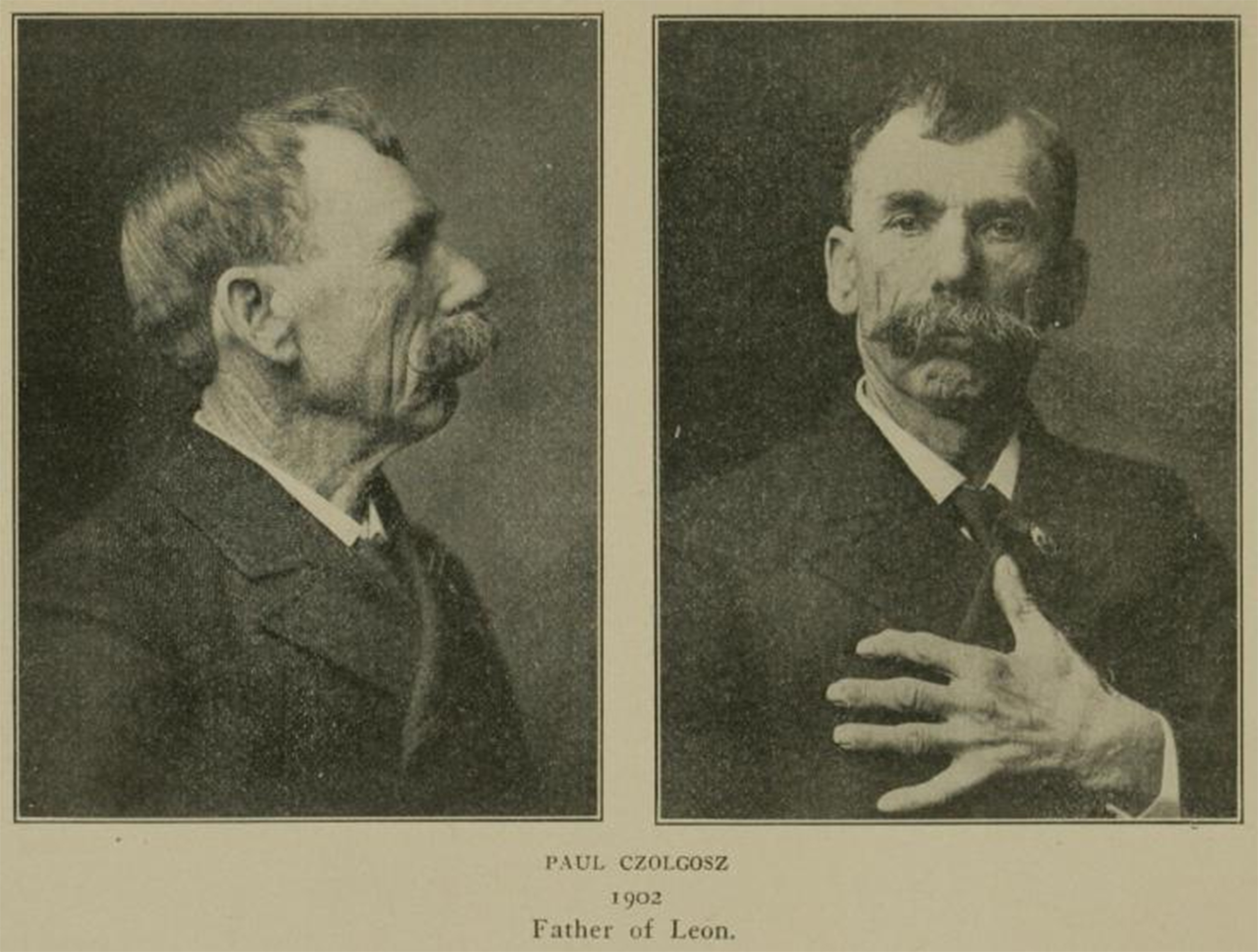 Fig. 3 Charles Horton & Co., Paul Czolgosz, Father of McKinley Assassin, 1902