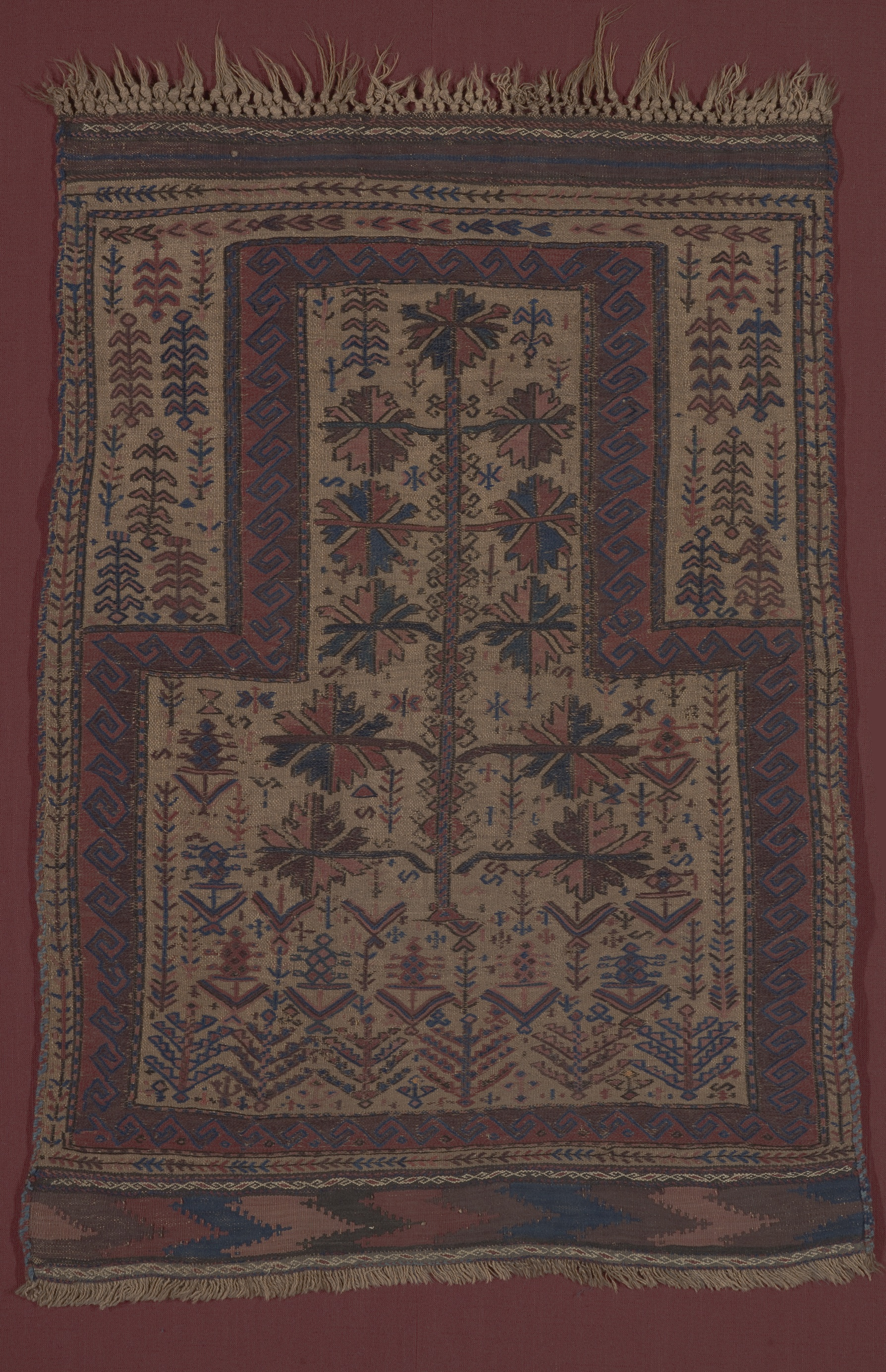 Fig. 4 Prayer rug showing Tree of Life design, 1880s