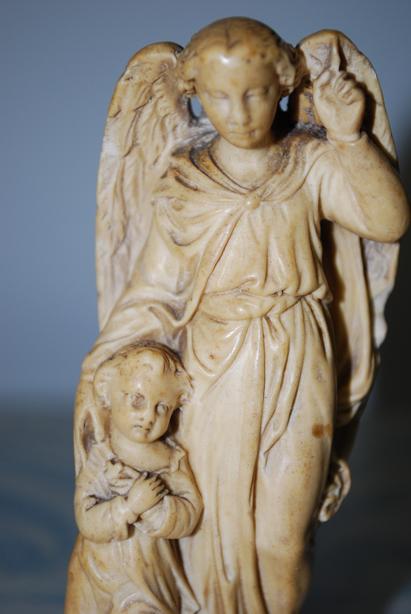 Fig. 2 Plaster Guardian Angel with Child, late 19th century