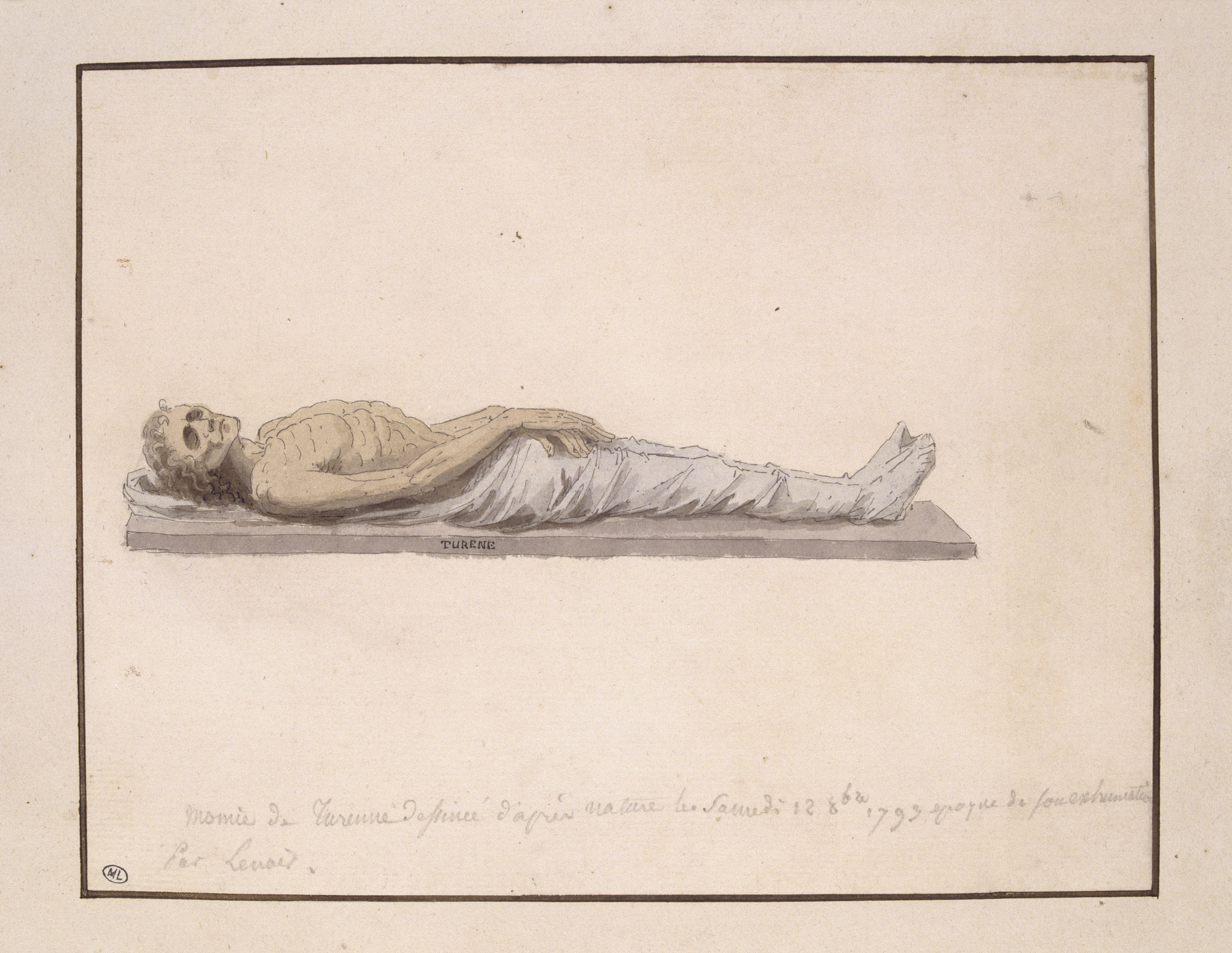 Fig. 2 Alexandre Lenoir, The Remains of Turenne Exhumed from his Tomb in 1793