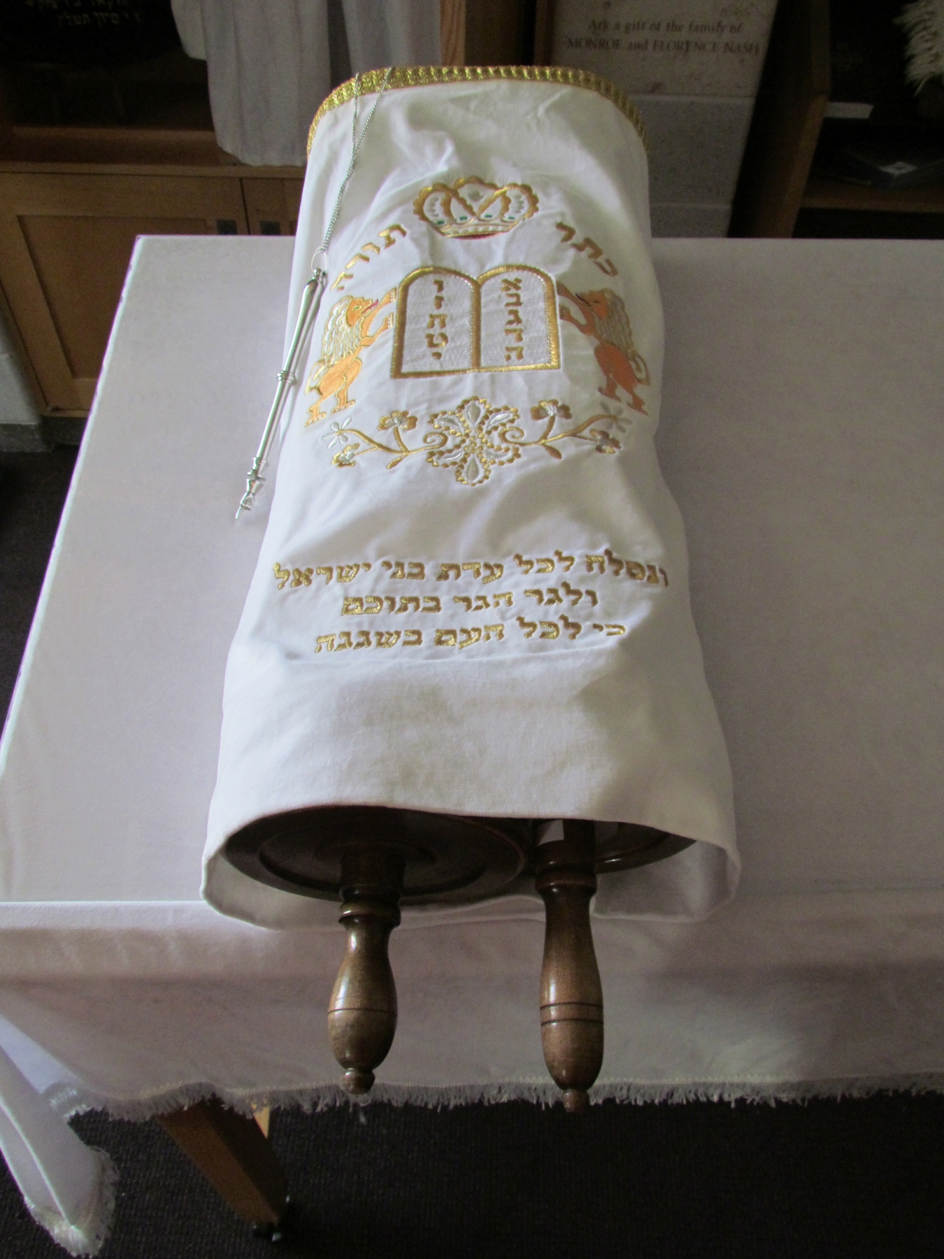 Torah Cover with Yad from the Slifka Center