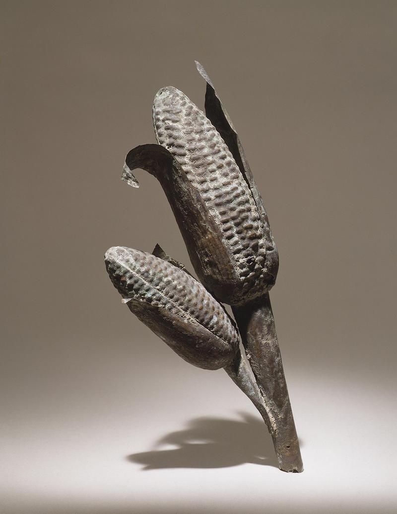 Fig. 4 Corn cob, Silver alloy, Ethnologisches Museum of the Staatliche Museen zu Berlin