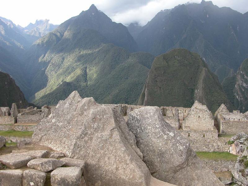 Fig. 19 Carved rock outcropping, Machu Picchu, ca. 1440-1470 CE