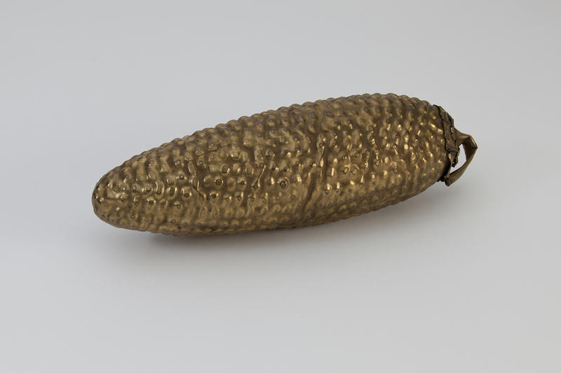 Fig. 6 Maize Cob Effigy, 1430­-1532 CE, Inca, Southern Highlands, Peru, Gold alloy, Gift of William and Mary Barnes. 2008.81.7 Collection of The Mint Museum, Charlotte, North Carolina