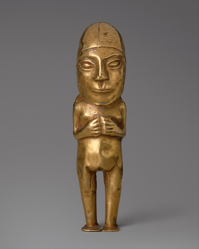 Fig. 8 Inca Female Figurine, Gold, 15th–early 16th century, Metropolitan Museum of Art 1979.206.1058