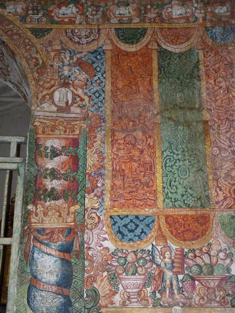Fig. 17 Textile murals, Church of Huaro, Quispicanchi Province, late 18th century. Photo by author.