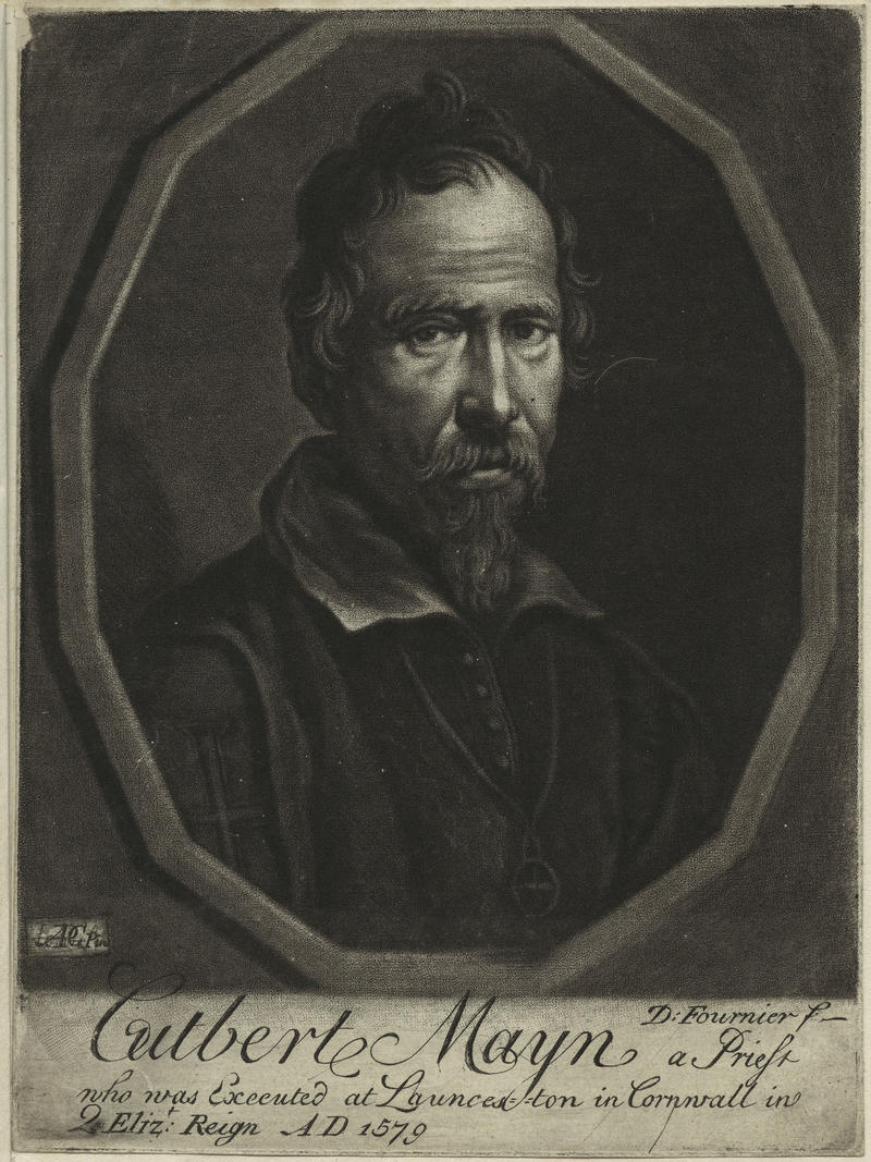 Fig. 8 Daniel Fournier, Cuthbert Mayne, mezzotint, probably early to mid 18th century, 6 1/4 in. x 4 3/4 in., Gift of Mary Elizabeth Stopford (née Fleming), 1931. National Portrait Gallery [UK], London. Image courtesy of the National Portrait Gallery.